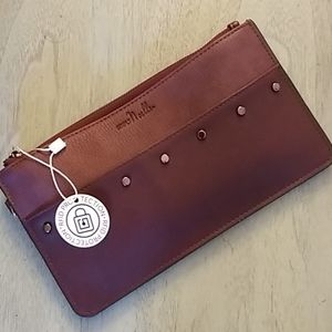 Simply Noelle Leather Clutch w/ Paisley Lining